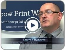 Rainbow Print Wales Customer Testimonial Video Button