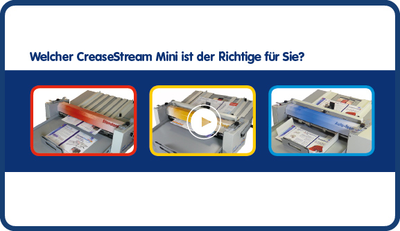 Alle drei CreaseStream Rill- und Perforiermaschinen